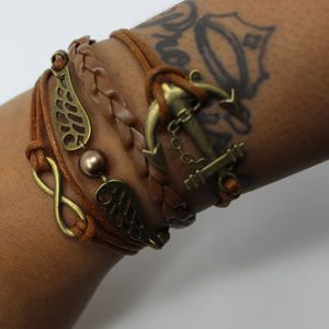 Brown Anchor Bracelet